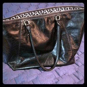 Banana Republic large leather tote bag.